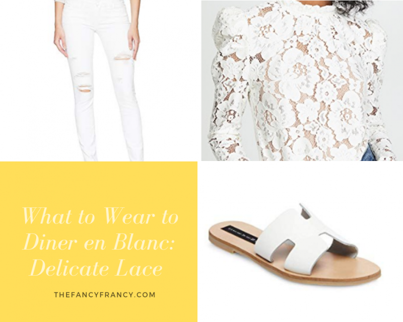 White Lace Outfit Idea